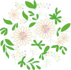 印花矢量图 优雅植物 花 草 色彩 免费素材