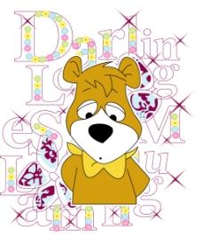 印花矢量图 动物 熊 文字 英文 免费素材