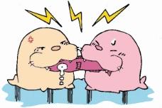 位图 卡通动物 海狮 鱼 可爱卡通 免费素材