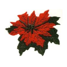 绣花 枫叶 秋天 红色 黑色 免费素材