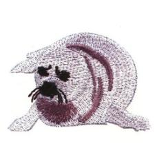 绣花 动物 海豹 家纺 免费素材