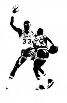 位图 男人 黑白色 打篮球 比赛 免费素材