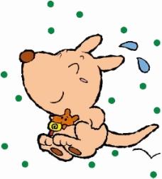 位图 卡通动物 袋鼠 可爱卡通 色彩 免费素材