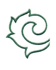 绣花 树叶 绿色 植物 免费素材