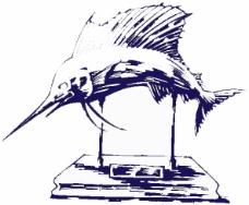 位图 卡通动物 鱼 色彩 单色 免费素材