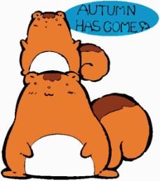 位图 卡通动物 可爱卡通 文字 英文 免费素材