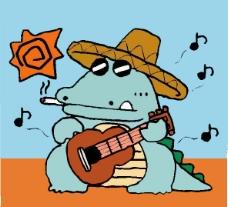 位图 卡通动物 可爱卡通 色彩 彩色 免费素材