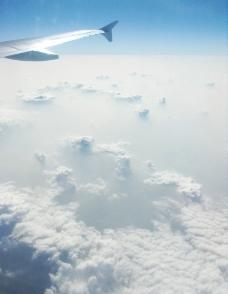 云层机翼图片