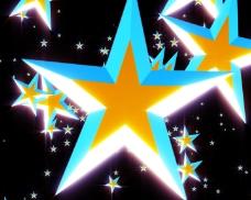 多彩五角星