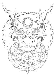 花纹图腾纹身图案龙头纹图片