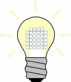 灯泡的LED上