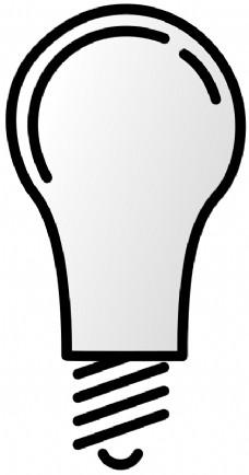 灯泡创意线稿矢量图