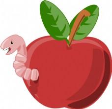 卡通苹果蜗杆