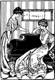 在衣服的两个女人1907