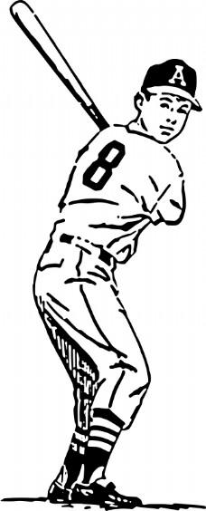 棒球简笔画步骤