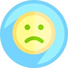 悲伤的笑脸图标