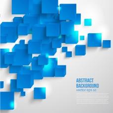 蓝色立体方块背景矢量素材