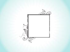 花艺设计乡绅框架隔离在天蓝色背景
