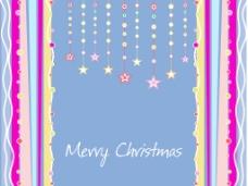 挂星和圣诞节雪花背景