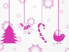 悬挂的圣诞节图标背景