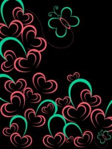 矢量的爱的背景说明