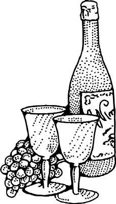 酒杯手绘三视图