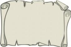 背景山水的羊皮纸