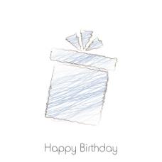 手绘礼品盒在白色背景