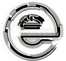 技术字体字母E