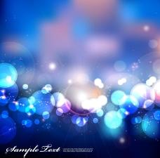 蓝色朦胧光晕背景矢量素材