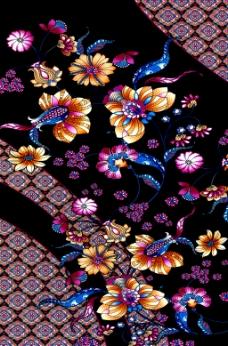 实物面料 花型 混合花纹 免费素材