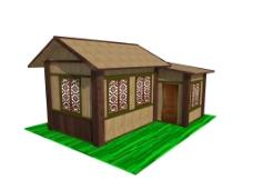 SketchUp木屋模型图片