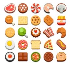 25款美味食品圖標矢量圖片