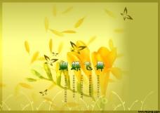 花瓣飘落背景