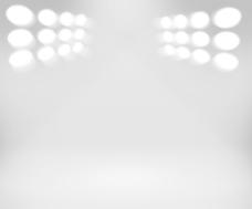 聚光灯下的白色房间背景