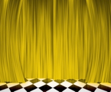 金帘聚光灯的舞台背景