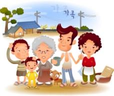 渡假的一家人