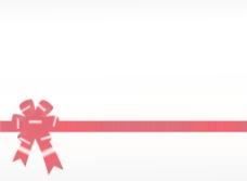 闪闪发光的红丝带的白色背景