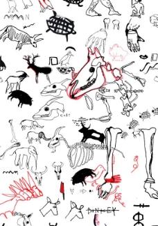 位图效果 手绘 动物 免费素材