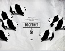 熊猫折纸风WWF海报PPT
