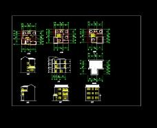 农村私宅建筑设计cad方案图