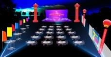 外场大型活动舞台现场 夜场
