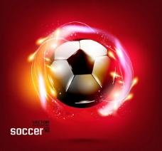 红色足球背景素材