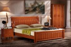 红实木床高清免费下载
