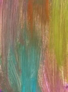 彩色水墨刷痕背景
