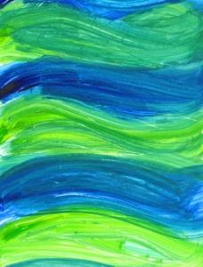 青蓝色波动刷痕背景