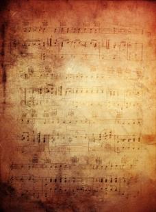 复古乐谱背景图片