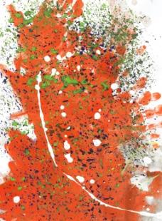 红色墨水喷溅背景