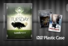 DVD塑料包装盒PSD素材