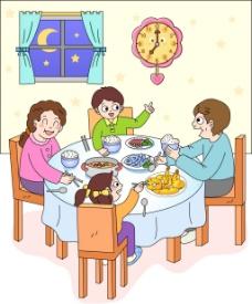 吃饭的一家人